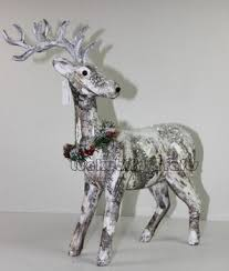Christmas Deer Decorations by Christmas Birch Bark Paper Deer Decoration Decorative Deer