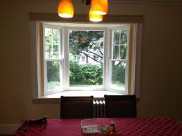 bay window pics with simple white wooden window frames of small