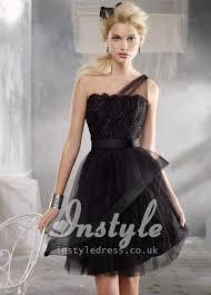 black dress uk black one shoulder tulle bridesmaid dress uk instyledress