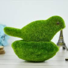 cute plant artificial moss bird with nest set simulation lichen animal