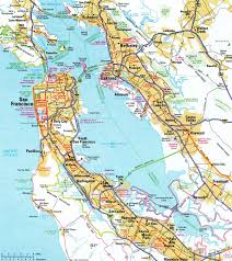 San Francisco Traffic Map by Interstate Guide Interstate 580 California