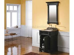 bathroom black bathroom vanity with brown wooden floor and small