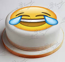 emoji smiley one large 8 cake 9 small cake topper edible icing