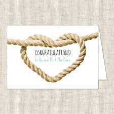 and groom card and groom congratulations card nautical heart