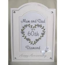 60th anniversary card messages diamond wedding anniversary card hearts anniversary