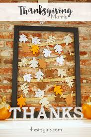 thanksgiving mantle decorating ideas gratitude frame