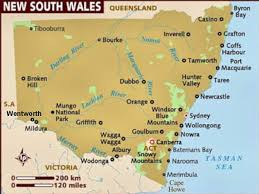 map of new south wales living travel australia new south wales map