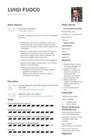 Sample Resume Financial Controller Position by Financial Controller Resume Template Premium Resume Samples