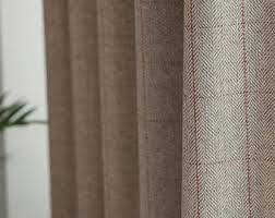 Wool Curtains Wool Curtains Etsy