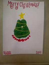 handprint footprint christmas tree footprint is 4 mo old baby