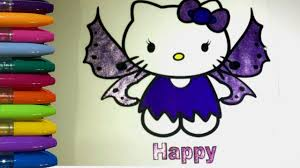 hello kitty coloring pages glitter butterfly youtube