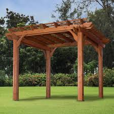 Pergola Kits Cedar by Backyard Discovery 10 U0027 X 10 U0027 10 U0027 X 12 U0027 Cedar Pergola Brown