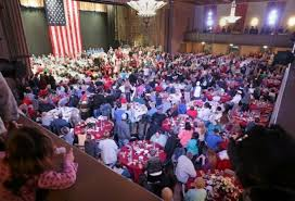 1 200 sit to thanksgiving dinner thanks to friends of the