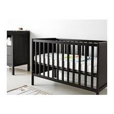 Black Crib With Changing Table Sundvik Crib Black Brown Crib Change Tables And Toddler Bed