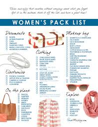 travel checklist images Women 39 s travel pack checklist house mix jpg