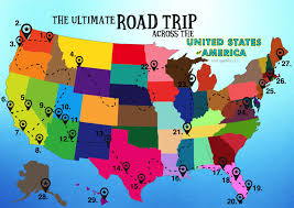 Trip Map The Ultimate Road Trip Map Of Things To Do In The Usa Hand