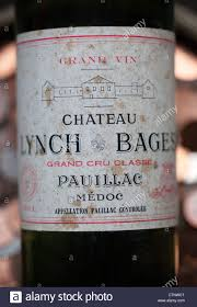 wine from château lynch bages chateau lynch bages pauillac wine bottle stock photo royalty