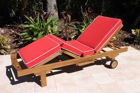 sale sunbrella fabric deluxe chaise lounge cushion oceanic teak