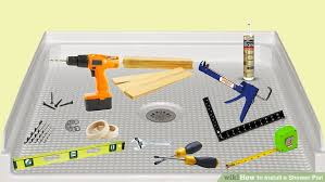 shower pan repair kit top access the interior drain through the