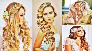 jaw dropping long wavy braided curly wedding hairstyle for women