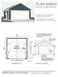 Garage And Shop Plans Two Car Garage With Plan 528 1 22 U0027 X 24 U0027 By Behm Design Garage