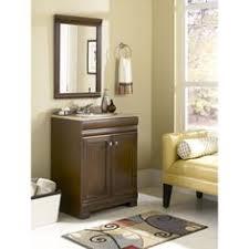 Style Selections Bathroom Vanity by Diamond Ballantyne Mocha With Ebony Glaze Traditional Birch