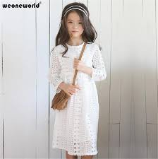 white lace dress with sleeves knee length weoneworld winter white lace dress sleeve knee length