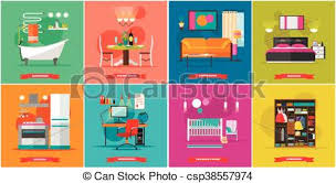 home interior vector home interior vector illustration in flat style house vectors