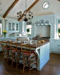 Teal Kitchen Cabinets Teal Kitchen Butcher Block Island And On Pinterest Arafen
