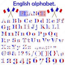 france flag alphabet u2014 stock vector lucky777 6042275