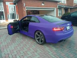 matte purple maserati wrapking premium car wrap car foil canada chrome car