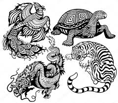 celestial feng shui animals u2014 stock vector insima 35961053