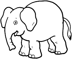 image of elephant clipart outline 11046 pink elephant clip art