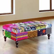 chesterfield patchwork storage footstool ottoman