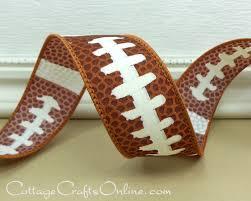 football ribbon wired ribbon 2 1 2 wide football sports print three 2 3