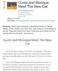 check out the play script gusto and meet the cat by
