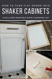 how to turn kitchen cabinets into shaker style diy shaker cabinet door update organized ish by burris