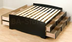 Queen Platform Bed Frame With Storage Platform Bed With Storage And Headboard 43 Cool Ideas For Queen