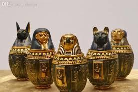 Home Decor Wholesale 2017 Wholesale Egyptian Canopic Jar Set Of 5 Hapi Duamutef Imseti