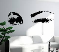 wall vinyl sticker decal u0027s face wink beautiful eyes