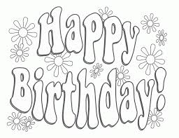 birthday coloring pages for kids coloring free coloring pages