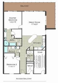 2 Bedroom Condo Floor Plan The Calypso
