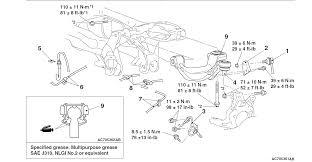 rear sub frame and suspension torque specs diagram