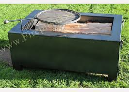 Bbq Firepit Pit Box 120 X 80 Incl Swing Arm Bbq Rack Firepits Uk