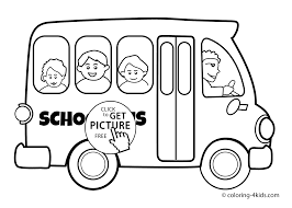 bus transportation coloring pages for kids printable