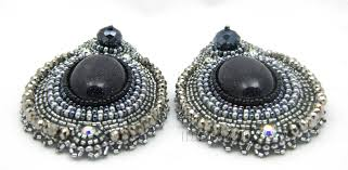 Crystal Chandelier Earrings Beadfeast Bead Embroidered Earrings Beadfeast
