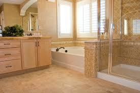 stone tile flooring gray tile horizontal contemporary bathroom