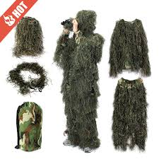 Ghillie Suit Halloween Costume Ghillie Suit Sniper Camo 3d Woodland Camouflage Clothing Clothes