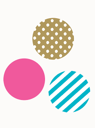 mixed patterned dots wall stickers peel and stick wall stickers pink teal gold mixed patterned dots wall stickers close up