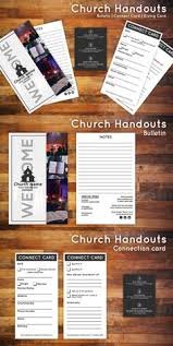 church bulletin u0026 connect card flyer by jimmyp co on